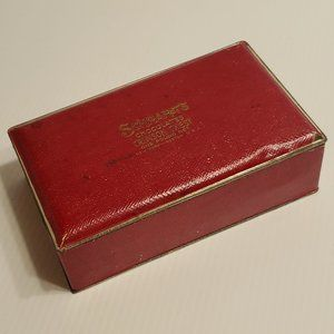 Vintage Schrafft's Crimson Chest Tin 1lb Chocolate
